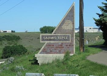 Medicine Hat landmark  Saamis Tepee