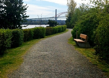 New Westminster hiking trail Sapperton Landing Park Trail