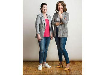 Moncton mortgage broker Sarah Albert and Sara Wright