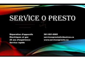Quebec appliance repair service Service O Presto