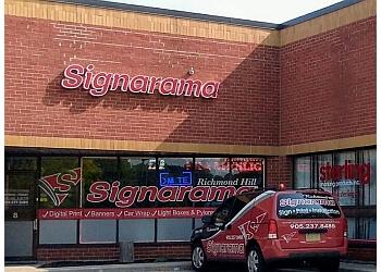 Richmond Hill sign company Signarama