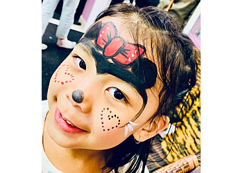 Newmarket face painting Smiley Faces