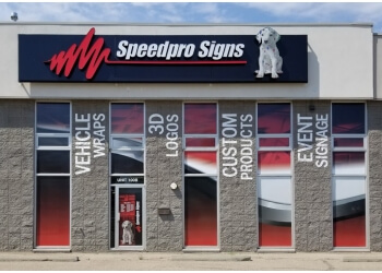 Red Deer sign company Speedpro Signs
