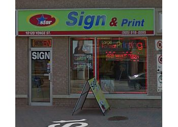 Richmond Hill sign company Star Sign And Print inc.