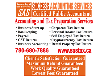 Edmonton accounting firm Success Accounting Services