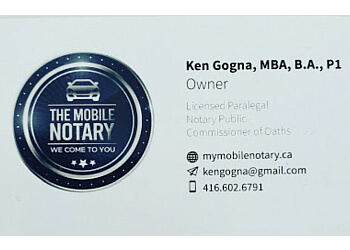 Brampton notary public The Mobile Notary