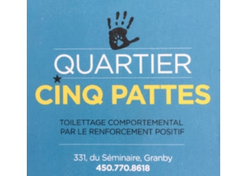 Granby pet grooming Toilettage Quartier Cinq Pattes