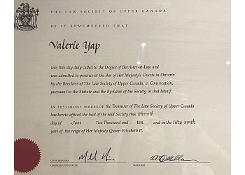 Oakville notary public VMYap Notary Law Office