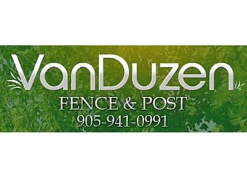 Niagara Falls fencing contractor VanDuzen Fence & Post