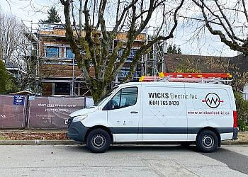 Vancouver electrician Wicks Electric, Inc.