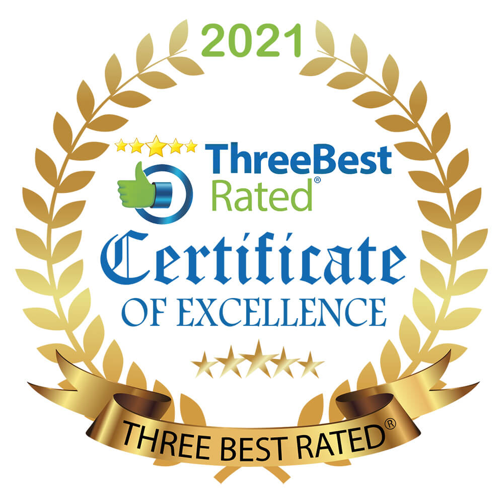 Three Best Rated JPEG Gold Badge White Background